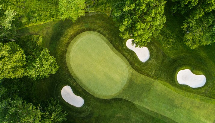 Over head view of golf course